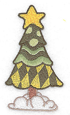 Embroidery Design: Christmas tree 1.98w X 3.56h