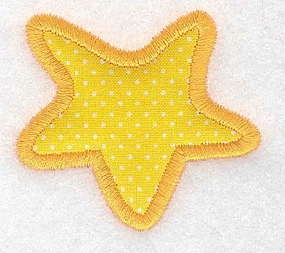 Embroidery Design: Star (applique)  2.25w X 2.03h