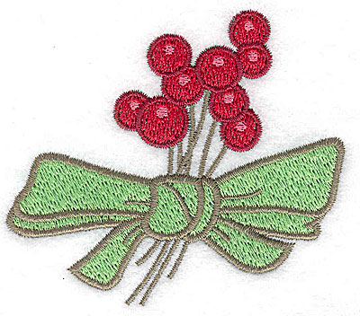 Embroidery Design: Berries with bow 3.34w X 2.88h