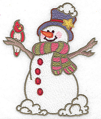 Embroidery Design: Snowman large 4.12w X 4.91h