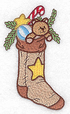 Embroidery Design: Christmas stocking small 2.23w X 3.87h