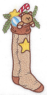 Embroidery Design: Christmas stocking large 2.23w X 4.97h