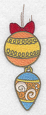 Embroidery Design: Christmas ornaments large 1.75w X 4.96h