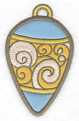 Embroidery Design: Christmas ornament (2 appliques)2.38w X 3.89h