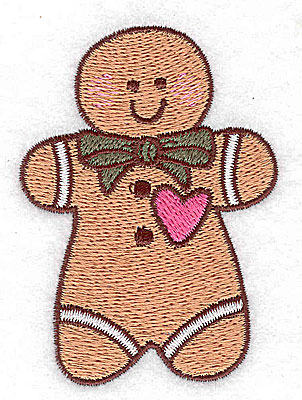 Embroidery Design: Gingerbread man small 2.18w X 3.04h