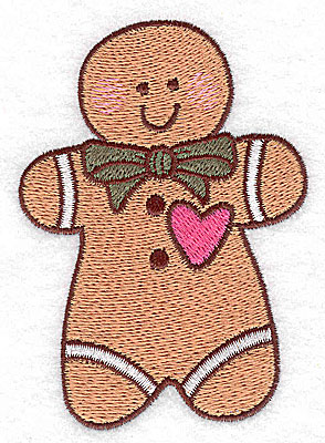 Embroidery Design: Gingerbread man large 2.79w X 3.89h