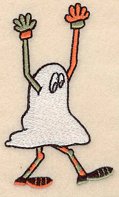 """Embroidery Design: Ghost large 2.42""""w X 4.12""""h"""