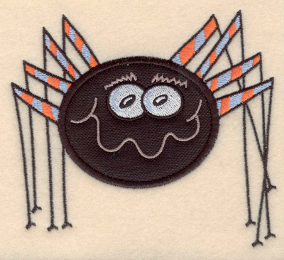 """Embroidery Design: Spider large applique 4.81""""w X 4.30""""h"""