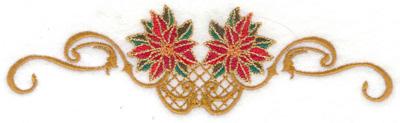 Embroidery Design: Poinsetta duo    6.94w X 1.95h