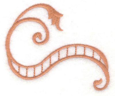 Embroidery Design: Banner with swirls 2.87w X 2.37h