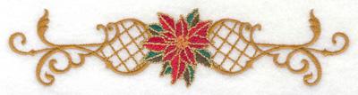 Embroidery Design: Poinsetta in center of design 6.68w X 1.58h