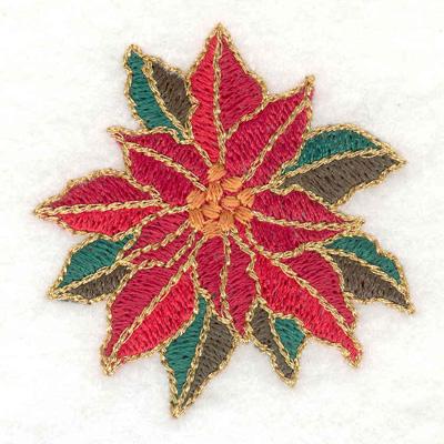 Embroidery Design: Single poinsetta flower 2.15w X 2.24h