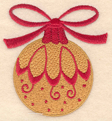Embroidery Design: Christmas ornament gold  3.20w X 3.50h