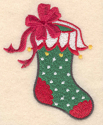 Embroidery Design: Christmas stocking small 2.58w X 3.38h