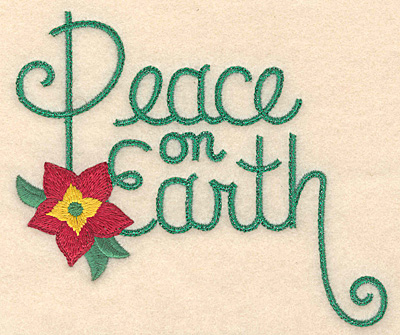 Embroidery Design: Peace on Earth large 4.94w X 4.21h