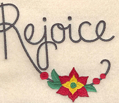 Embroidery Design: Rejoice large 4.96w X 4.35h