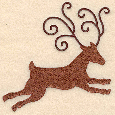 Embroidery Design: Reindeer large 4.94w X 4.92h