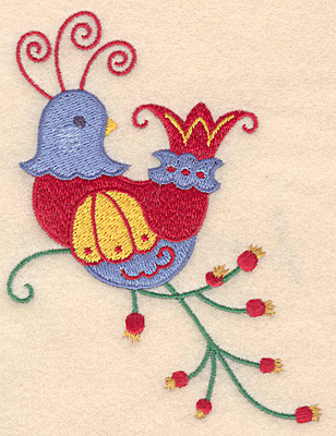 Embroidery Design: Partridge decorative large 3.84w X 4.97h
