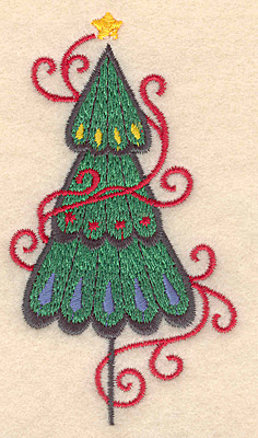 Embroidery Design: Christmas tree small 2.17w X 3.89h