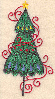 Embroidery Design: Christmas tree large 2.68w X 4.95h