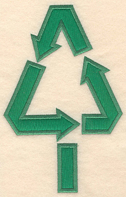 Embroidery Design: Recycling tree largge appique 4.48w X 6.98h