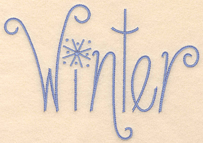 Embroidery Design: Winter large 4.96w X 4.85h