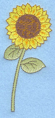 Embroidery Design: Sunflower large1.69w X 3.84h