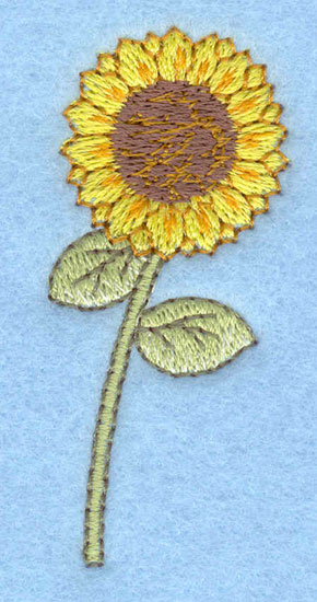 Embroidery Design: Sunflower small1.14w x 2.56h