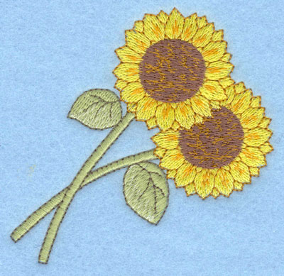Embroidery Design: Sunflowers large3.55w X 3.61h