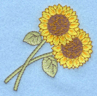 Embroidery Design: Sunflowers small2.36w X 2.40h