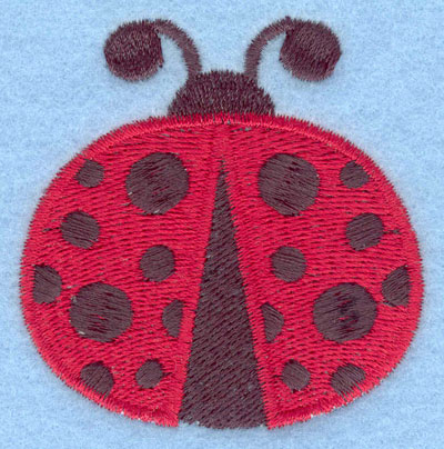 Embroidery Design: Ladybug flying large2.38w X 2.43h