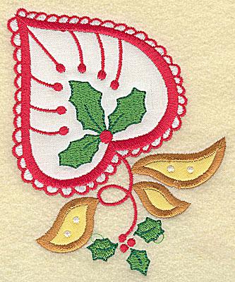 Embroidery Design: Christmas Paisley design B applique large 4.05w X 4.98h