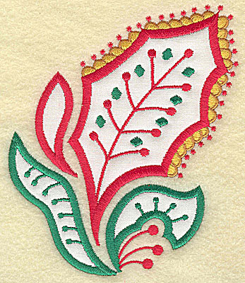 Embroidery Design: Christmas Paisley design C applique large 4.29w X 4.99h
