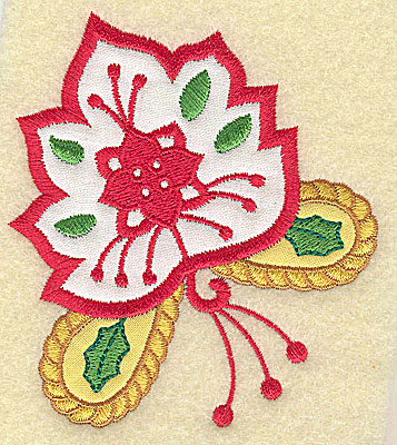 Embroidery Design: Christmas Paisley design D double applique small 3.49w X 3.83h
