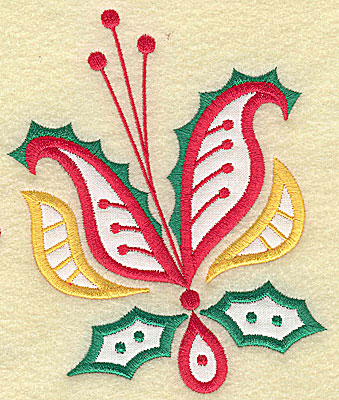 Embroidery Design: Christmas Paisley design I applique large 4.15w X 4.95h
