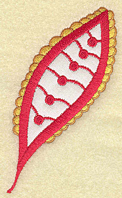 Embroidery Design: Christmas Paisley design A 2.28w X 3.82h