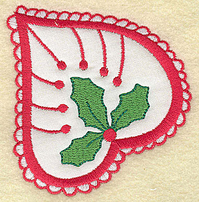 Embroidery Design: Christmas Paisley design B 3.35w X 3.55h