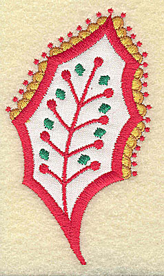Embroidery Design: Christmas Paisley design C 2.18w X 3.78h