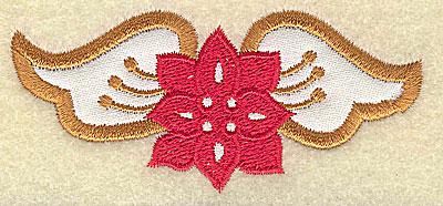 Embroidery Design: Christmas Paisley design E 3.57w X 1.80h