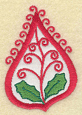 Embroidery Design: Christmas Paisley design G 1.94w X 2.78h