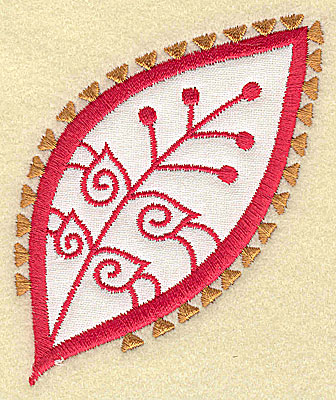 Embroidery Design: Christmas Paisley design H 3.09w X 3.57h