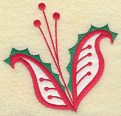 Embroidery Design: Christmas Paisley design I 3.78w X 3.61h