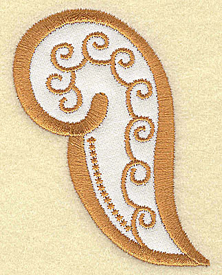 Embroidery Design: Christmas Paisley design J 2.37w X 3.18h