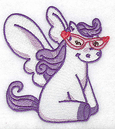 Embroidery Design: Pegasus B with sunglasses 3.53w X 3.89h