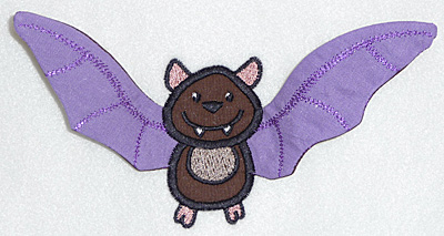 Embroidery Design: Bat applique3.89w X 3.89h