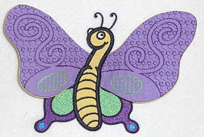 Embroidery Design: Butterfly applique 6.98w X 4.51h