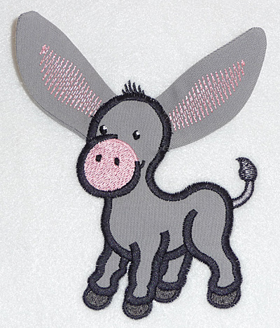 Embroidery Design: Donkey applique 3.89w X 4.15h