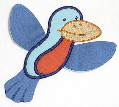 Embroidery Design: Bird applique 5.62w X 3.91h