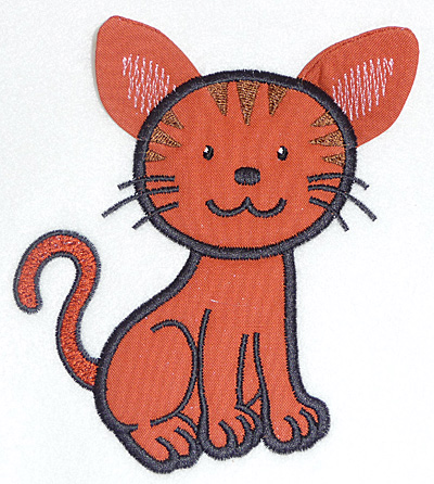 Embroidery Design: Cat applique 4.17w X 4.69h