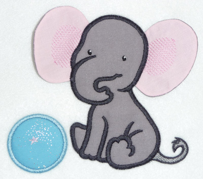 Embroidery Design: Elephant applique 5.60w X 4.90h